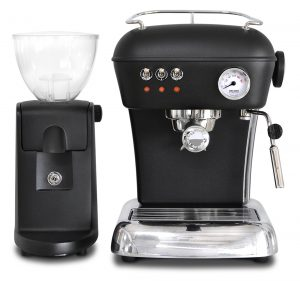 ascaso dream met -i-mini koffiemolen zwart