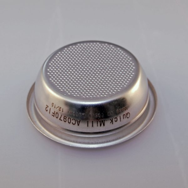 Filter 2 kops 58mm (E61) losse koffie 14 gram AC0970FI2 quickmill espressomachine
