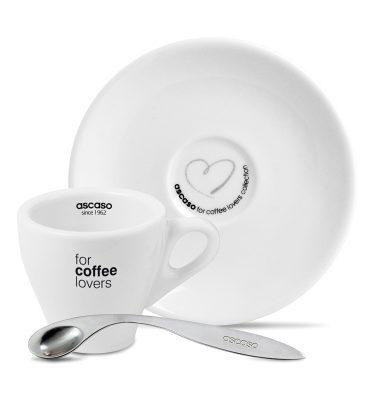 Espresso kopjes + schoteltjes (6 stuks) Ascaso