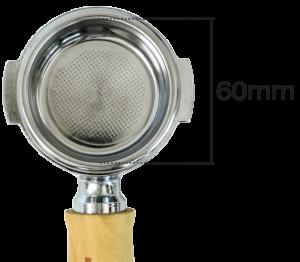 filterdrager portafilter ascaso 60mm