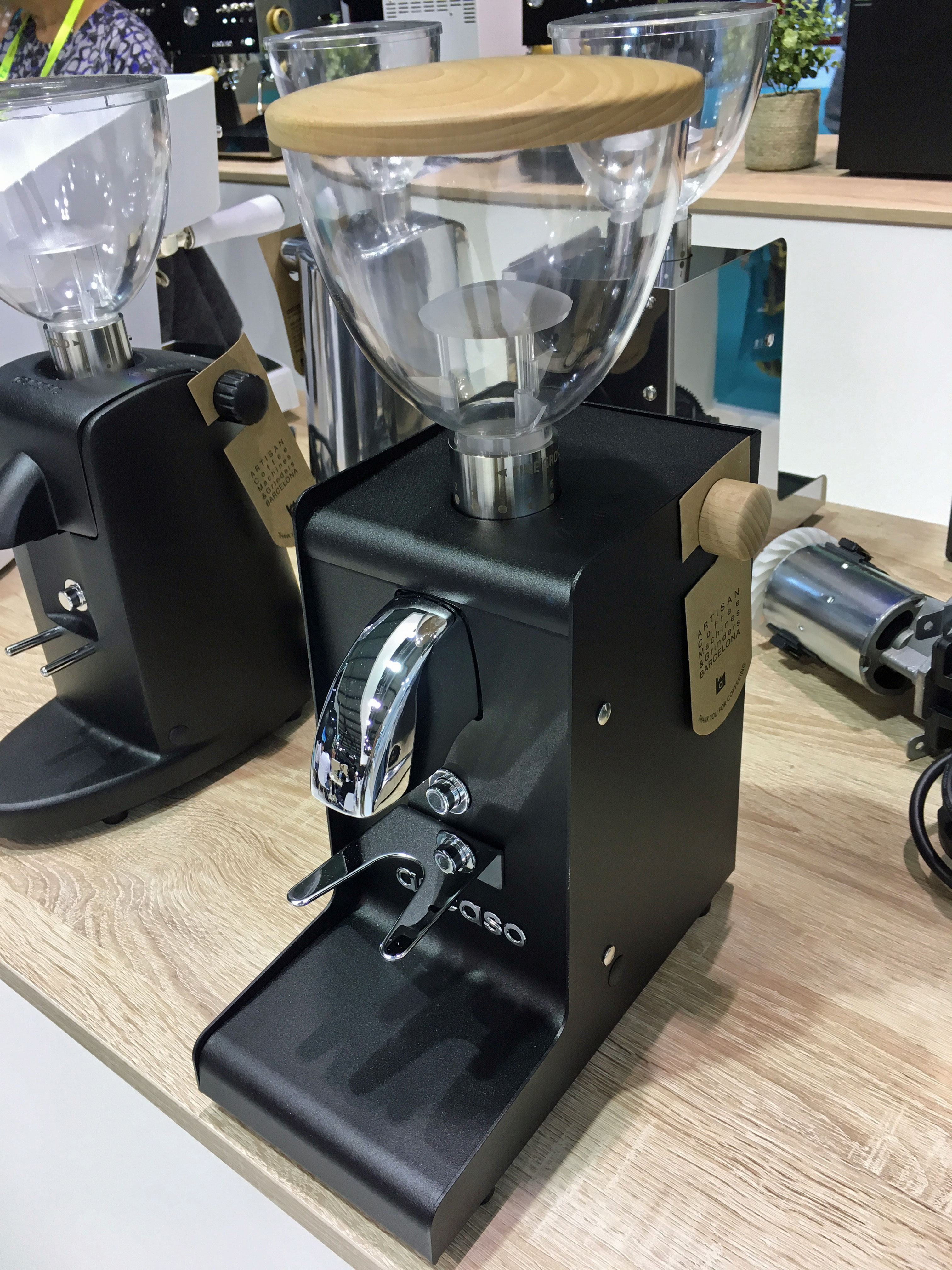 Ascaso koffiemolen i-steel black zwart wood hout